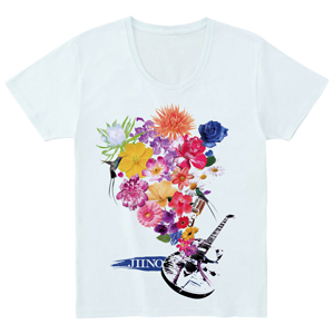 JIINO T-Shirt (Flower) Light Blue