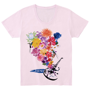 JIINO T-Shirt (Flower) Light Pink