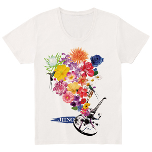 JIINO T-Shirt (Flower) Off White